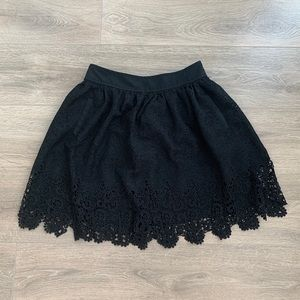 Banana Republic Black Lace Skirt with pockets